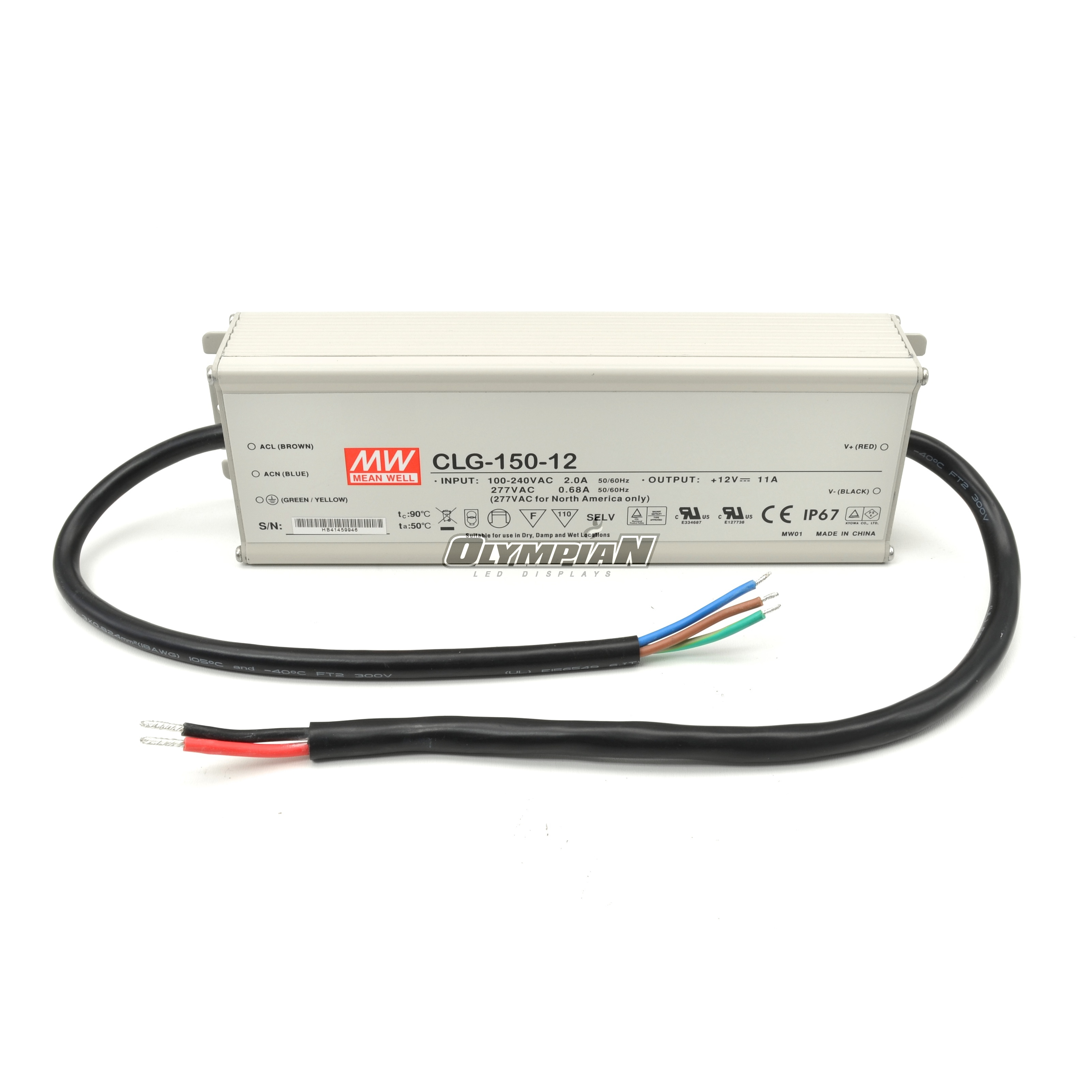 Meanwell CLG-150-12 CC + CV LED Power Supply