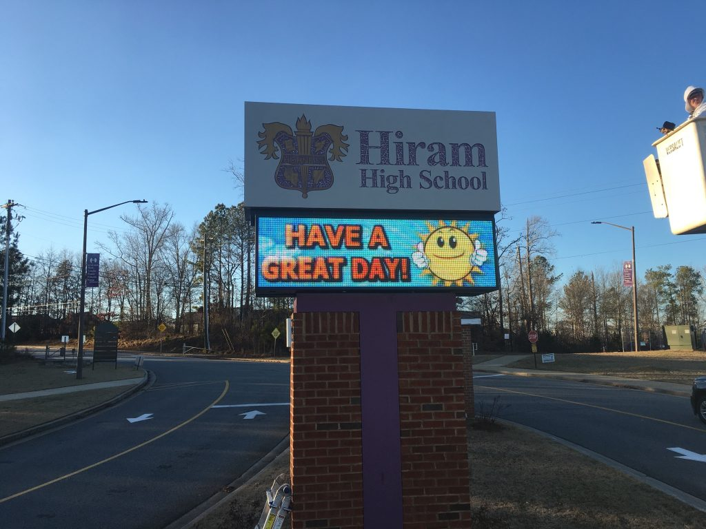 Hiram High School LED Sign