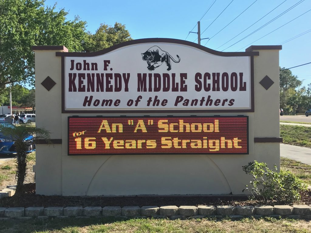 Kennedy Middle School LED Sign