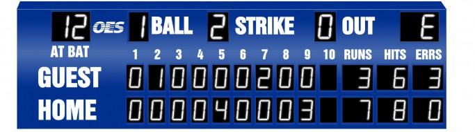OES Baseball Scoreboard 7222