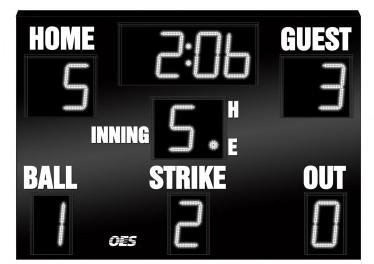 OES Baseball Scoreboard 7230