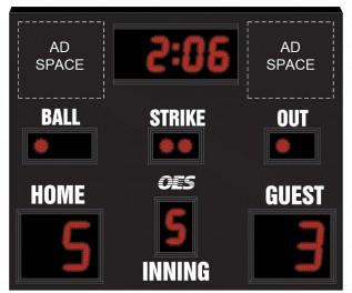 OES Baseball Scoreboard 7611