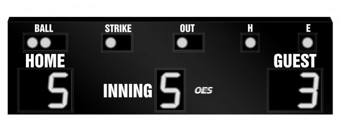 OES Baseball Scoreboard 7620