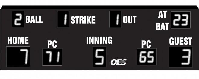 OES Baseball Scoreboard 7625