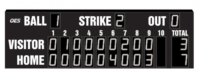 OES Baseball Scoreboard 7640