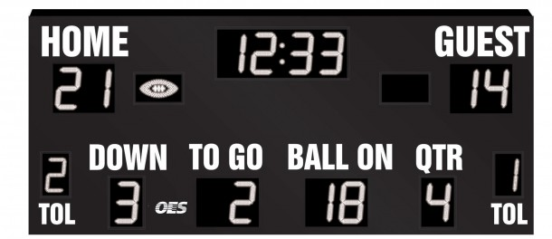 OES Football Scoreboard 8605