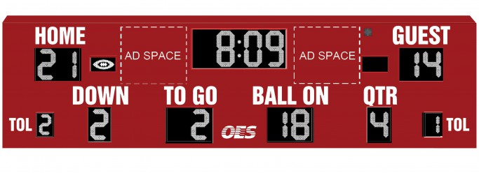 OES Football Scoreboard 8615
