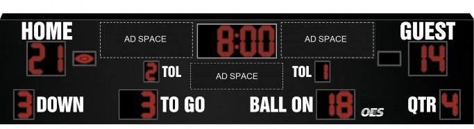 OES Football Scoreboard 8620