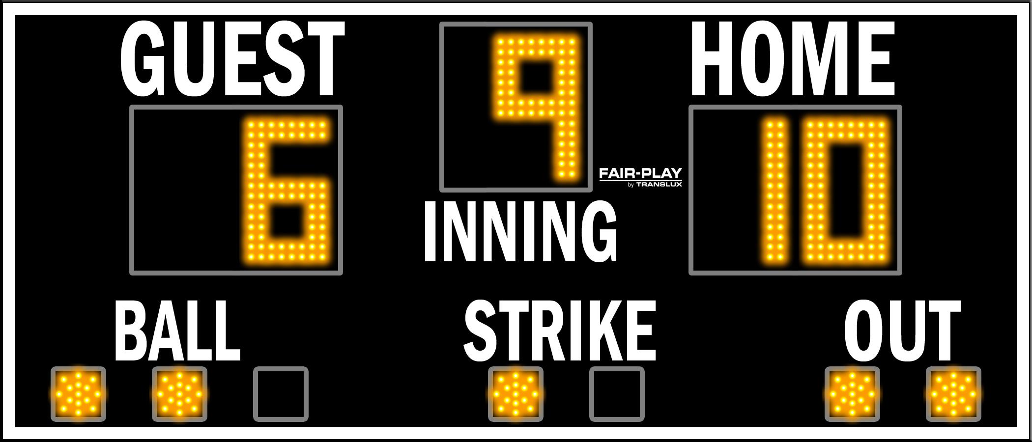 Fair-Play BA-7107-2 Baseball Scoreboard (3′ x 7′)