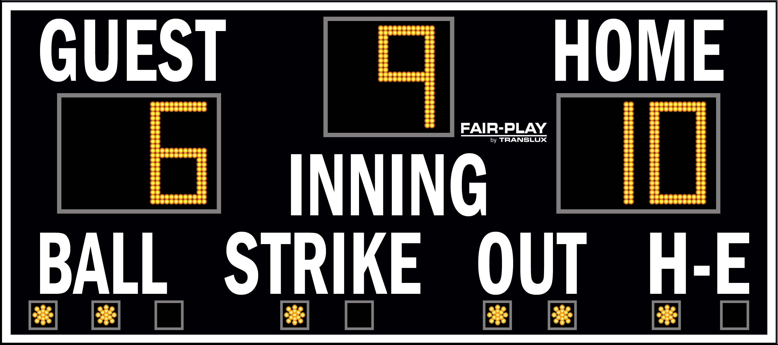 Fair-Play BA-7109-2 Baseball Scoreboard (4′ x 9′)