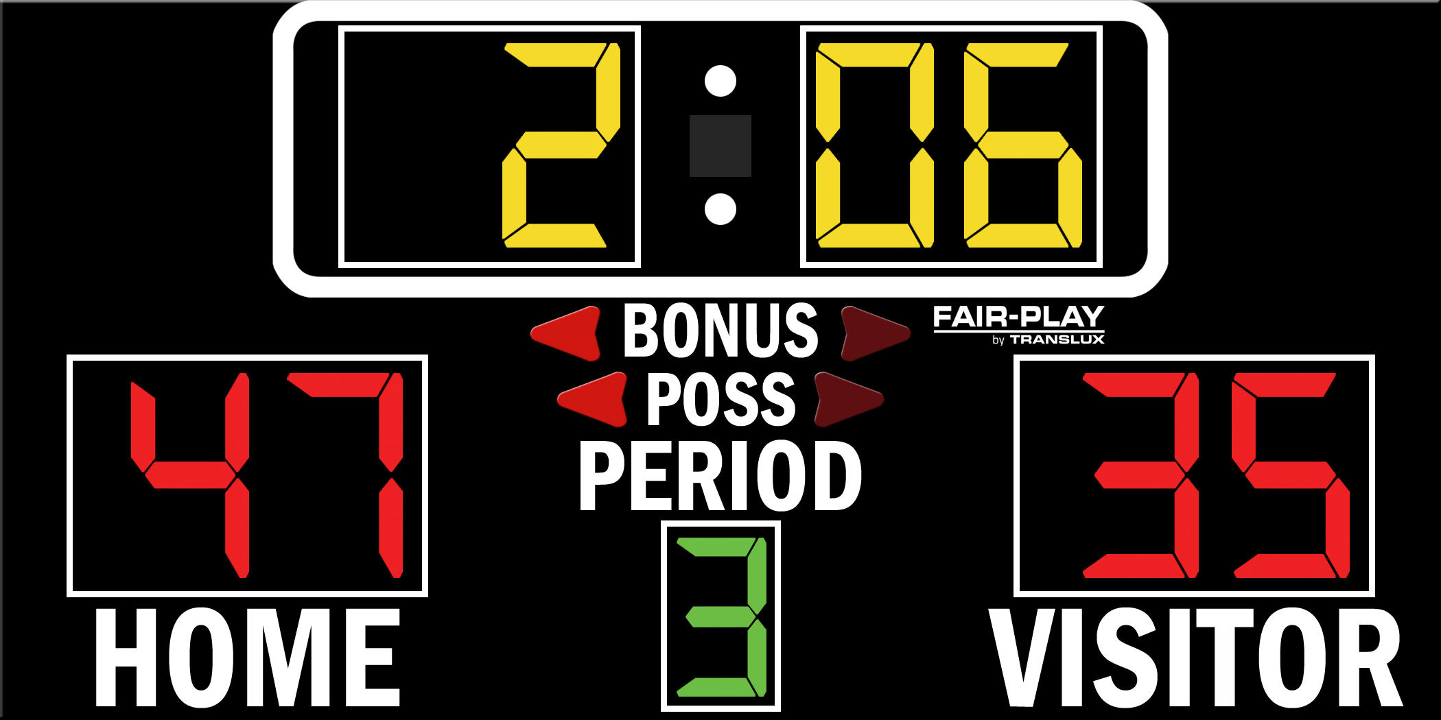 Fair-Play BB-1500-4 Basketball Scoreboard