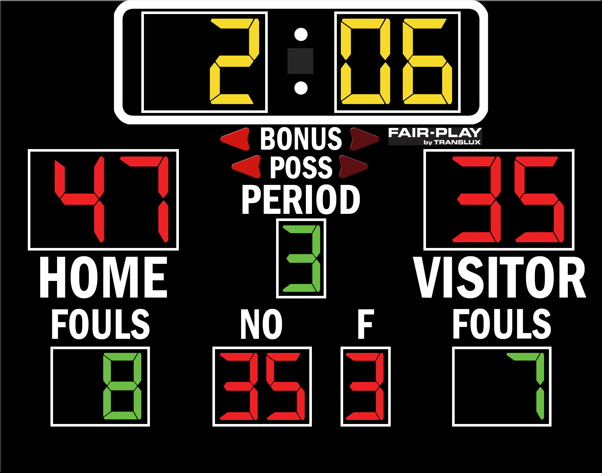 Fair-Play BB-1520-4 Basketball Scoreboard