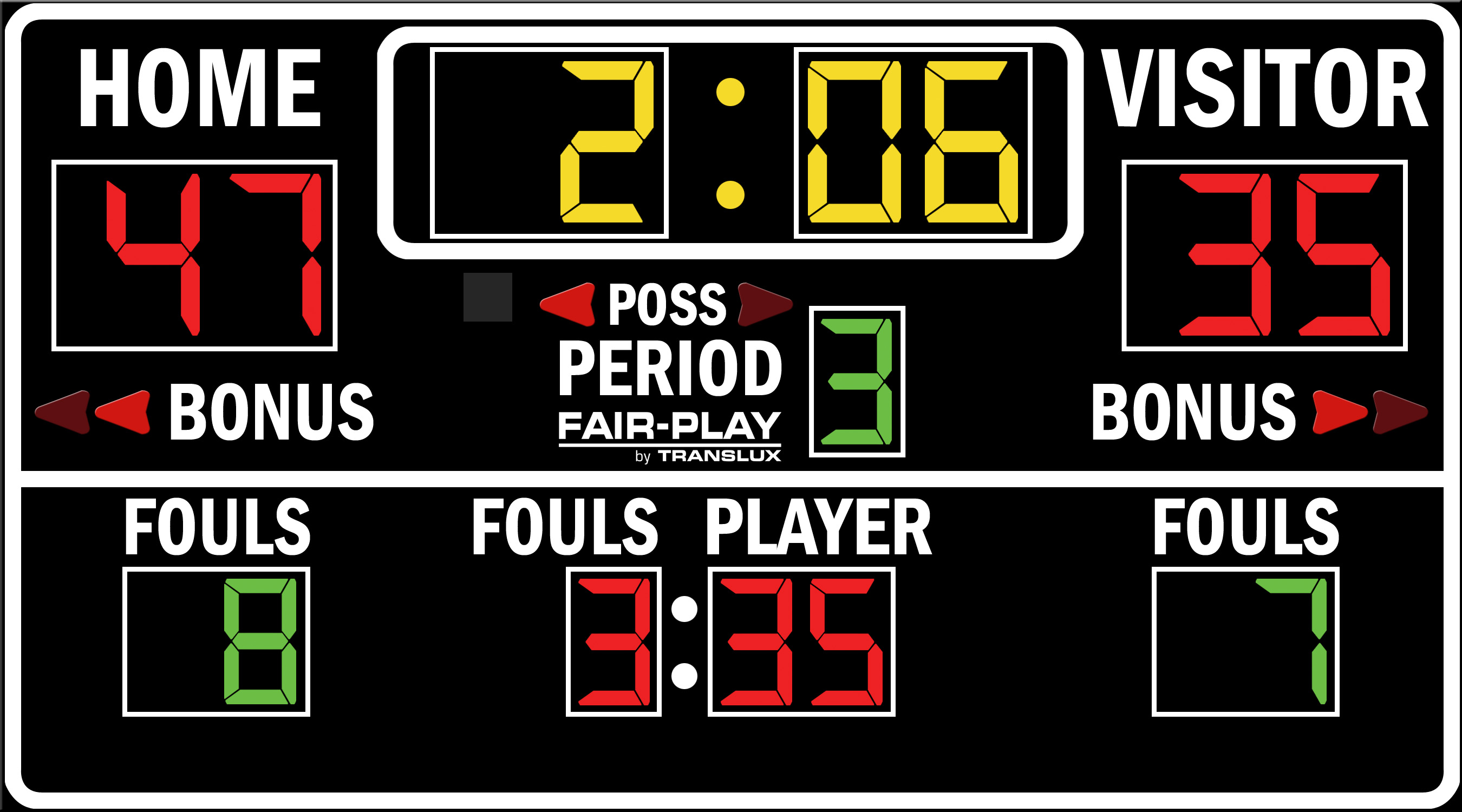 ScoreBoards.com BB-1610-4 Basketball Scoreboard