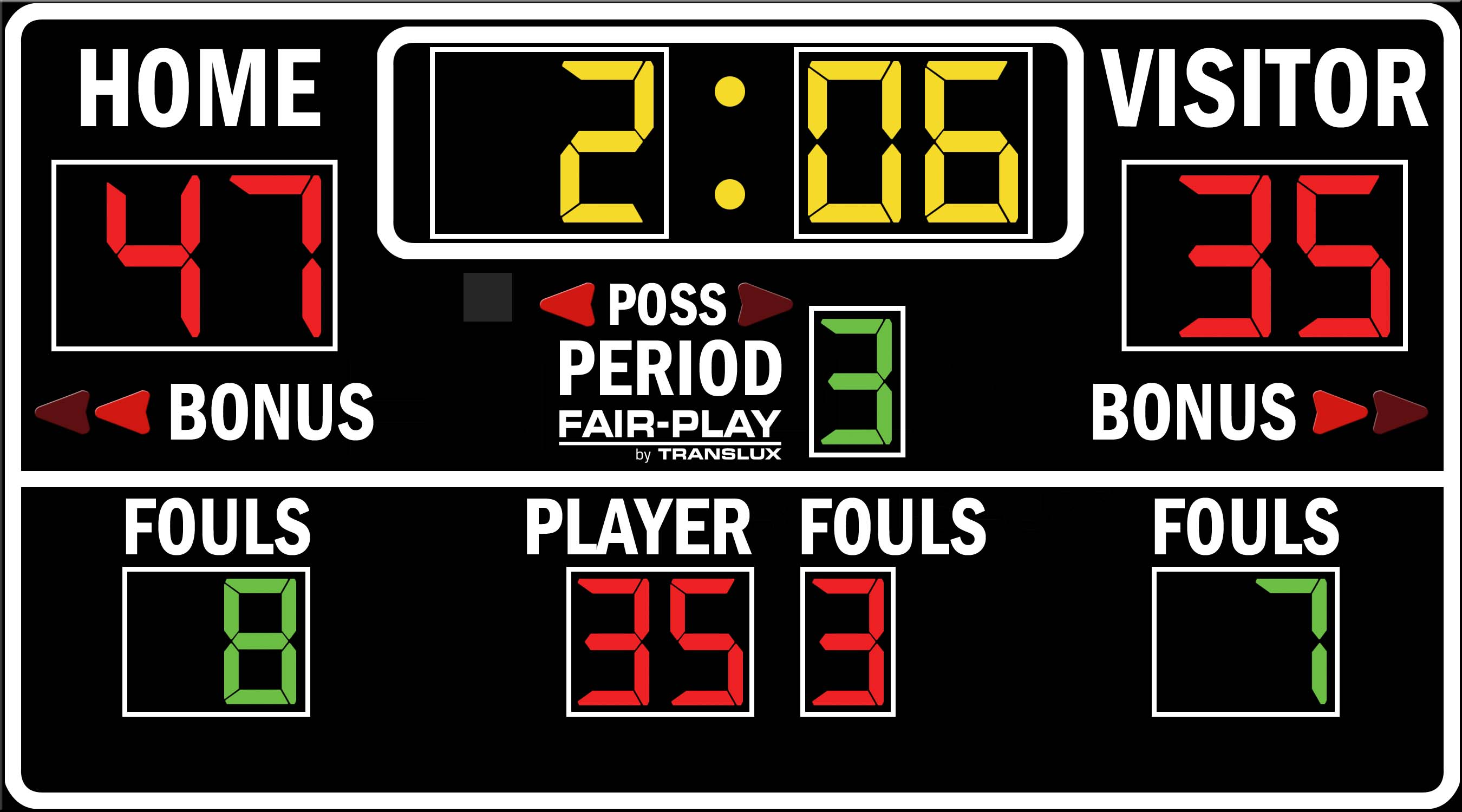 ScoreBoards.com BB-1620-4 Basketball Scoreboard