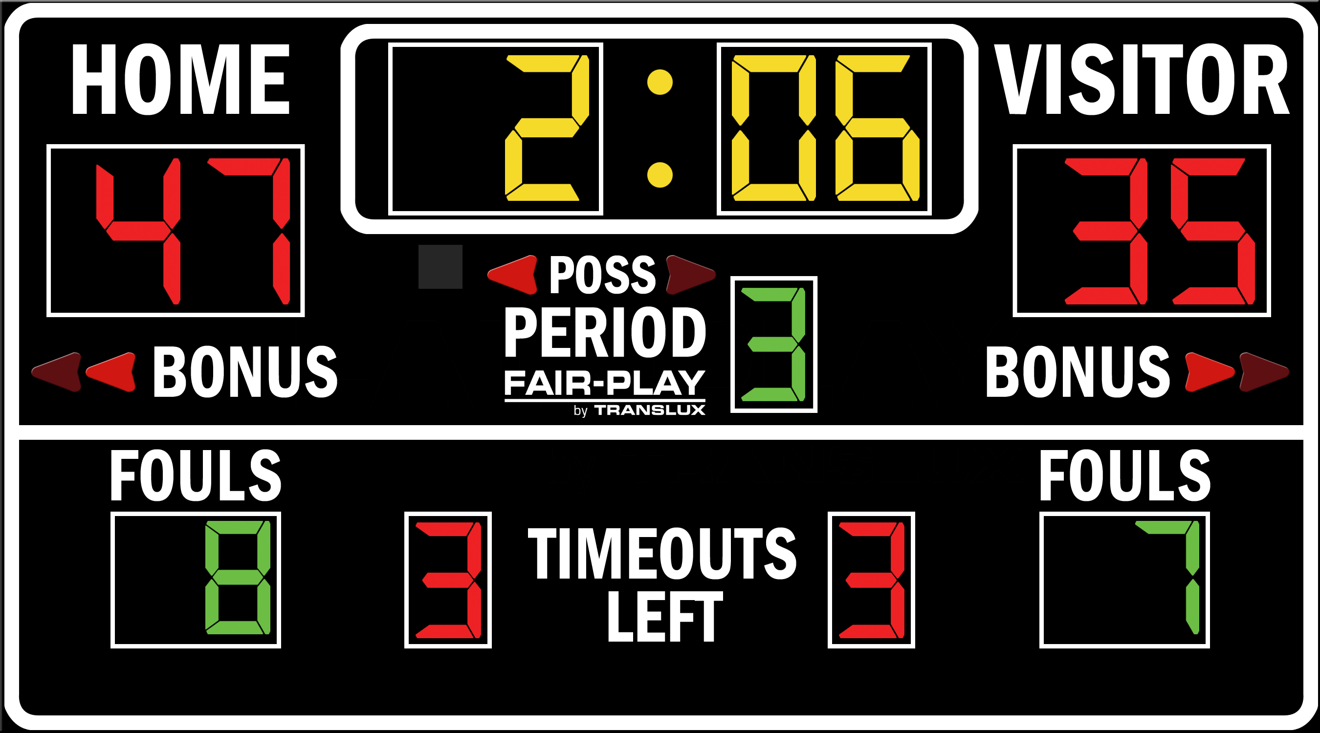 ScoreBoards.com BB-1630-4 Basketball Scoreboard