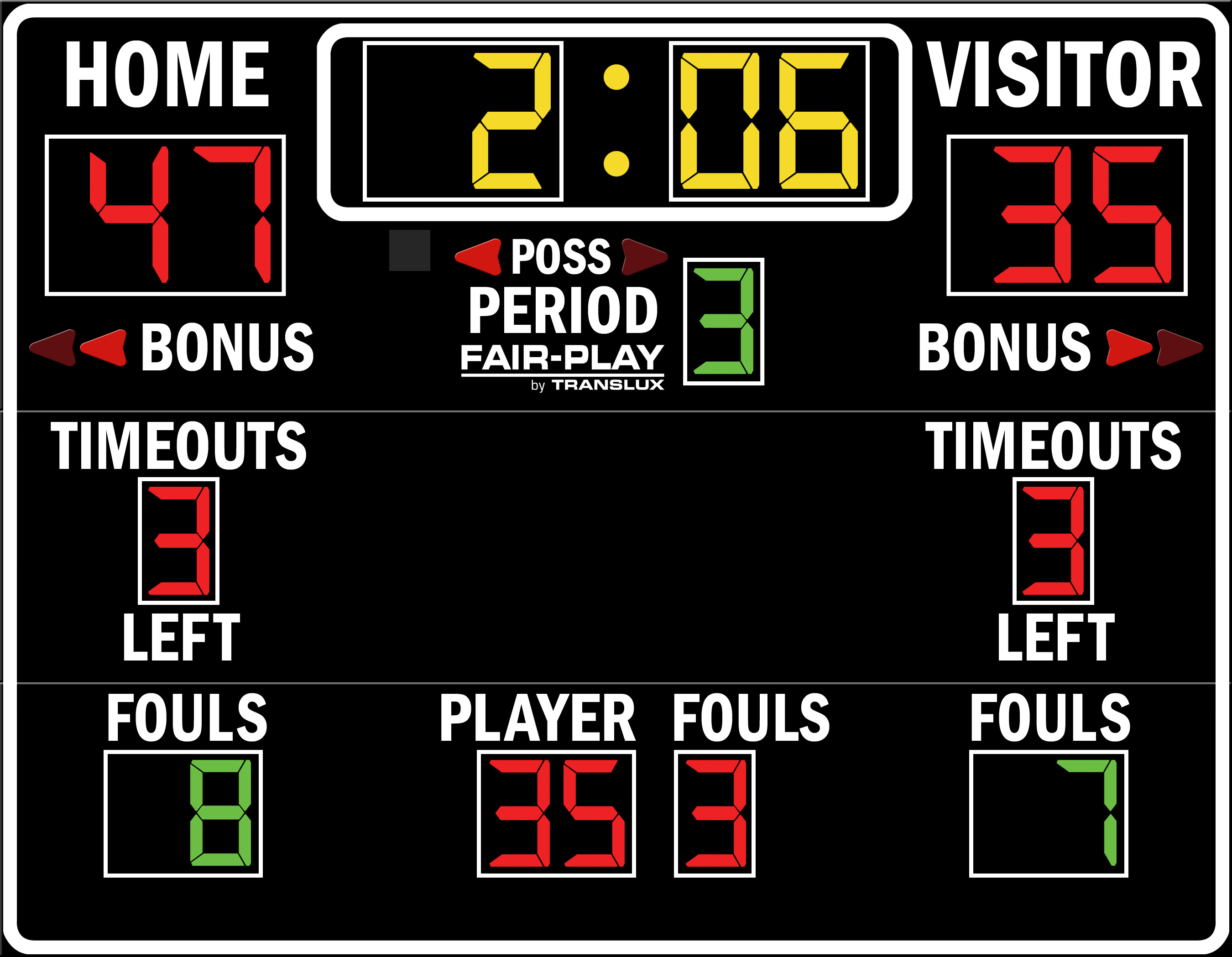 ScoreBoards.com BB-1640-4 Basketball Scoreboard