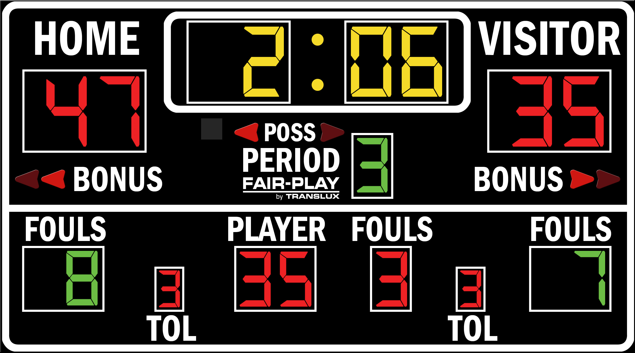 ScoreBoards.com BB-1660-4 Basketball Scoreboard