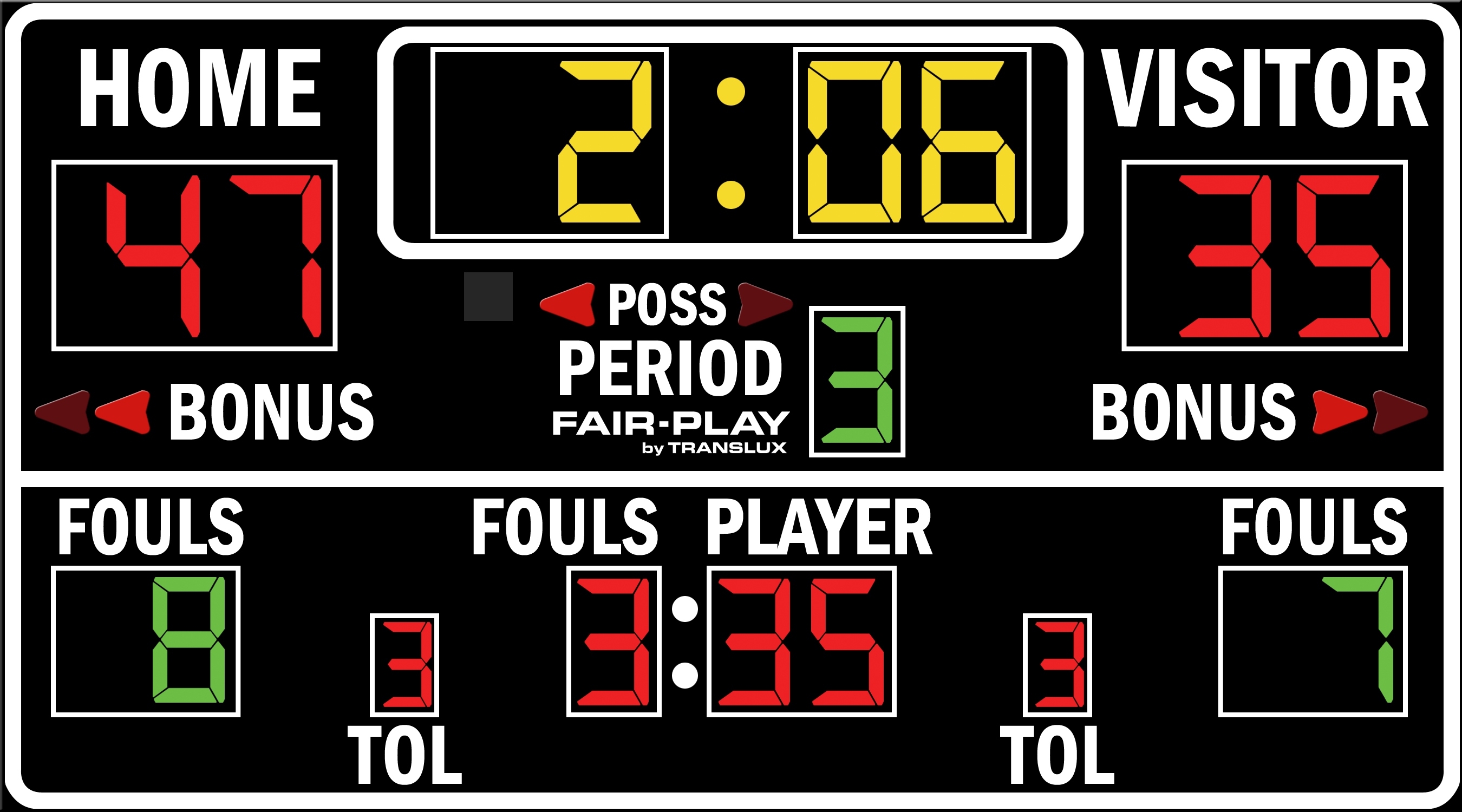 ScoreBoards.com BB-1680-4 Basketball Scoreboard