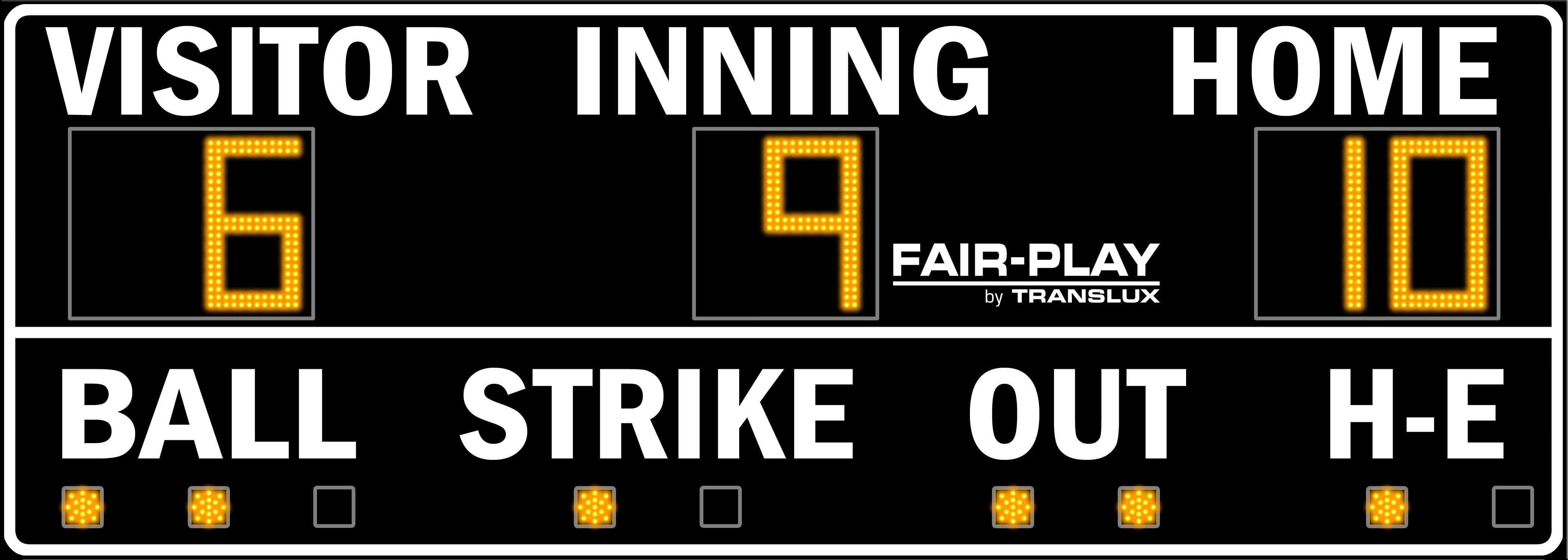 Fair-Play BA-7100-2 Baseball Scoreboard (5′ x 14′)