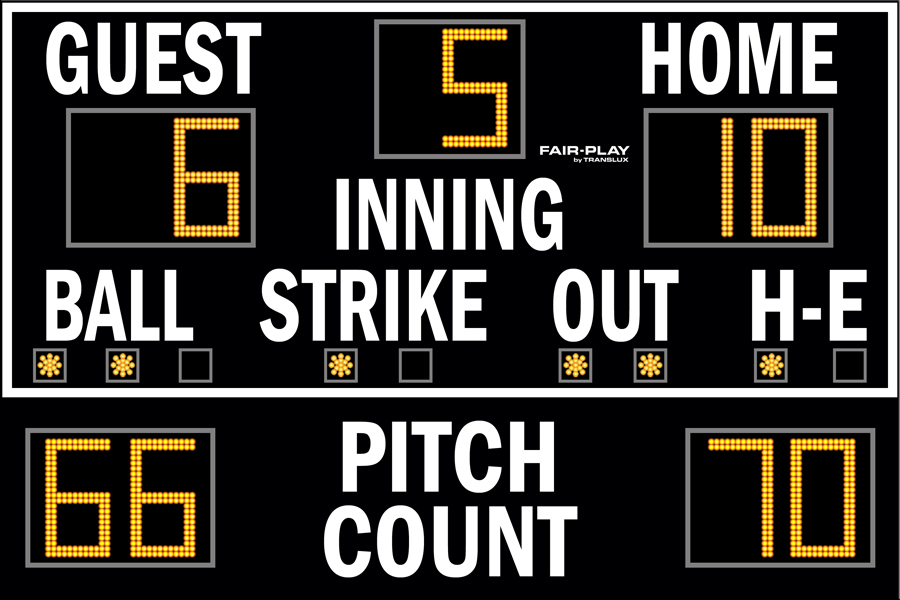 Fair-Play BA-7109PC-2 Baseball Scoreboard (6′ x 9′)