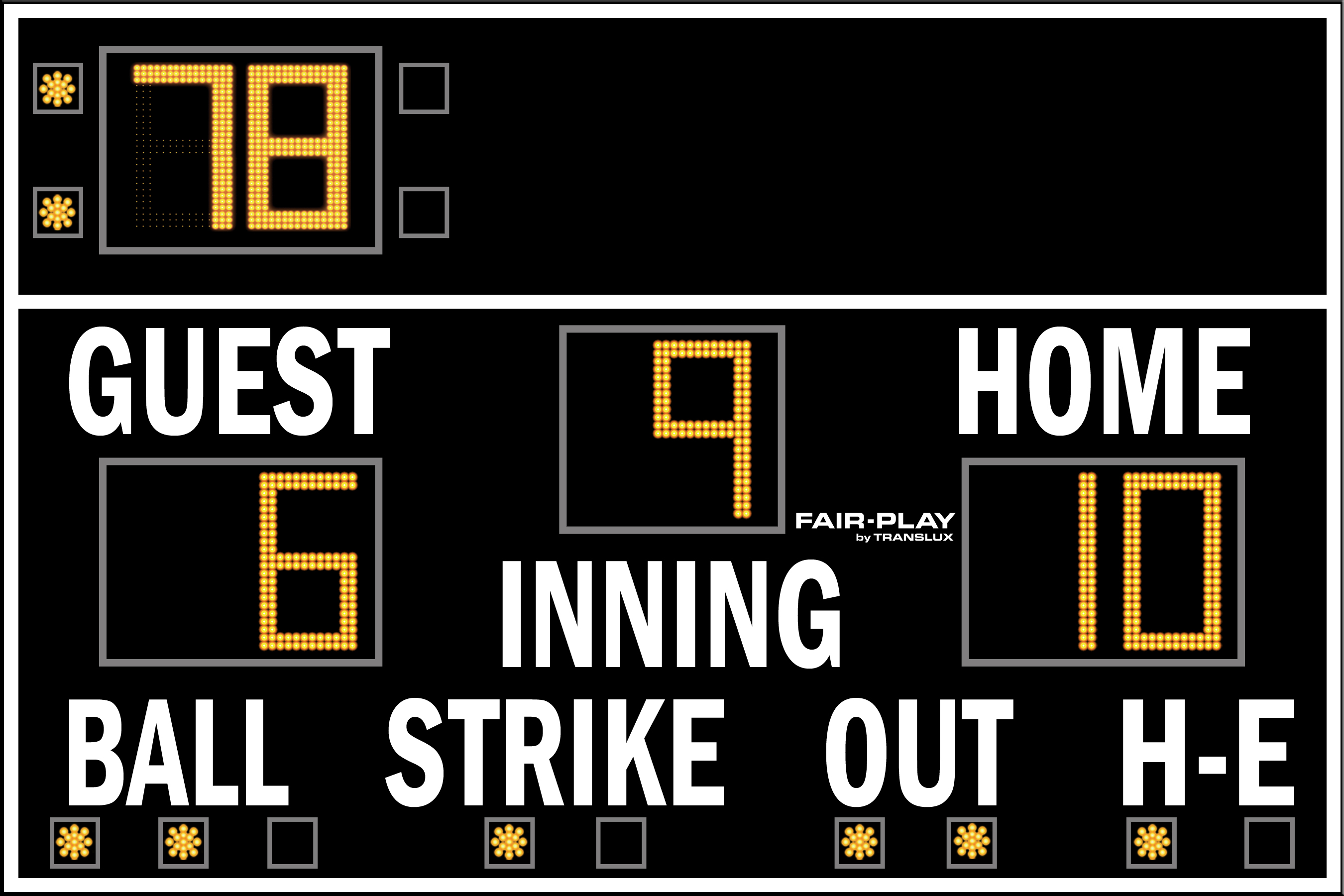 Fair-Play BA-7109T-2 Baseball Scoreboard (6′ x 9′)