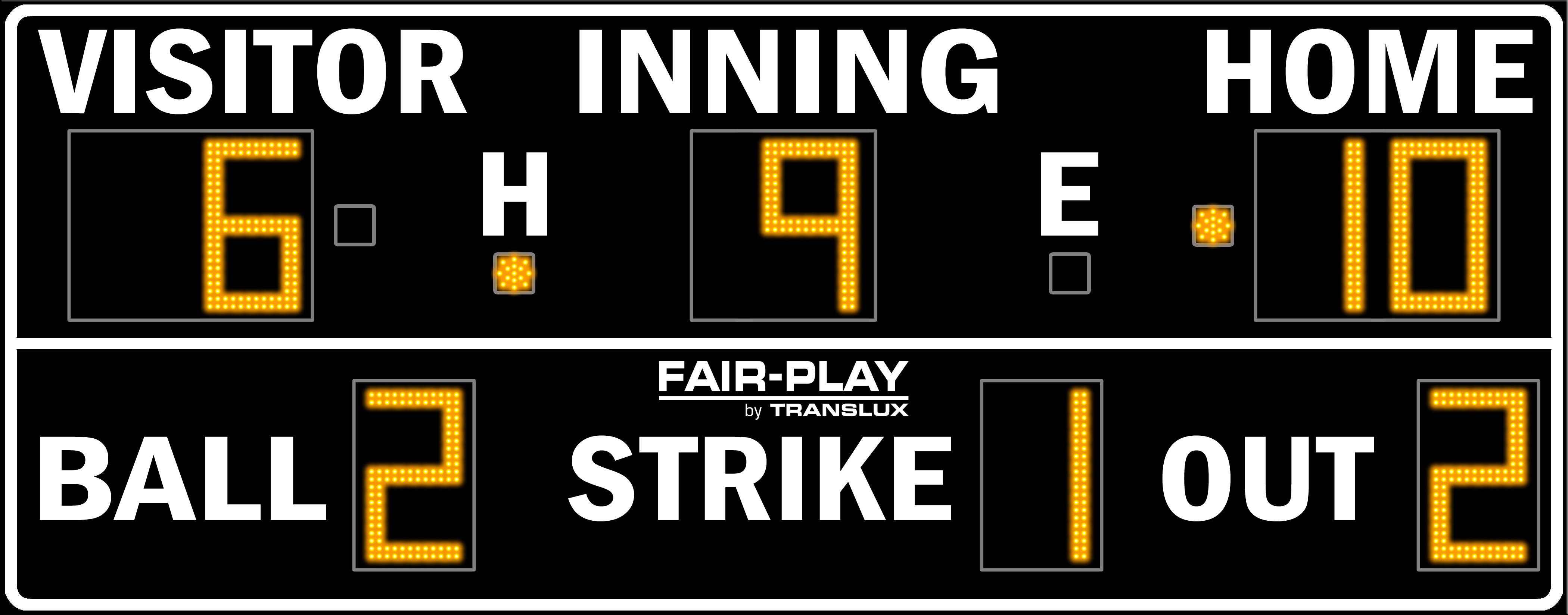 Fair-Play BA-7200-2 Baseball Scoreboard (5′ 6″ x 14′)