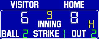 ScoreBoards.com BA-7209-LED Baseball Scoreboard (4′ x 9′)
