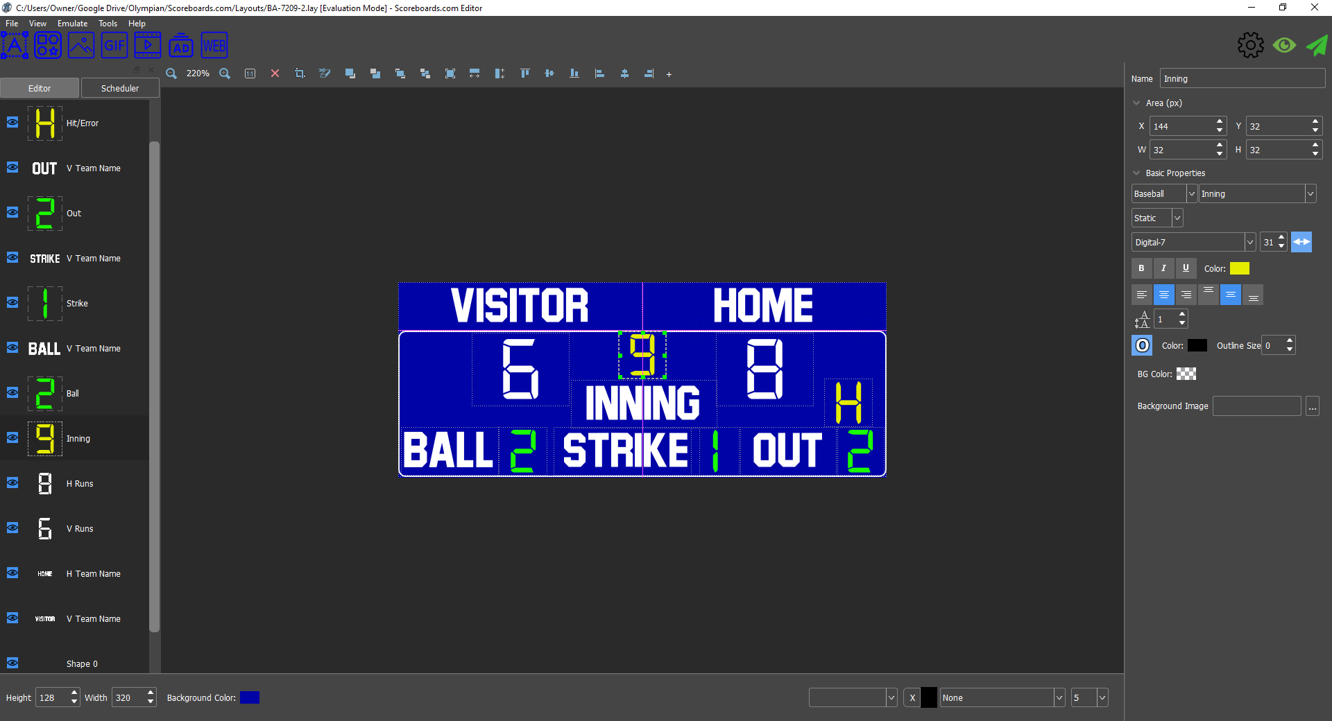 ScoreBoards.com Designer Software (Sign)