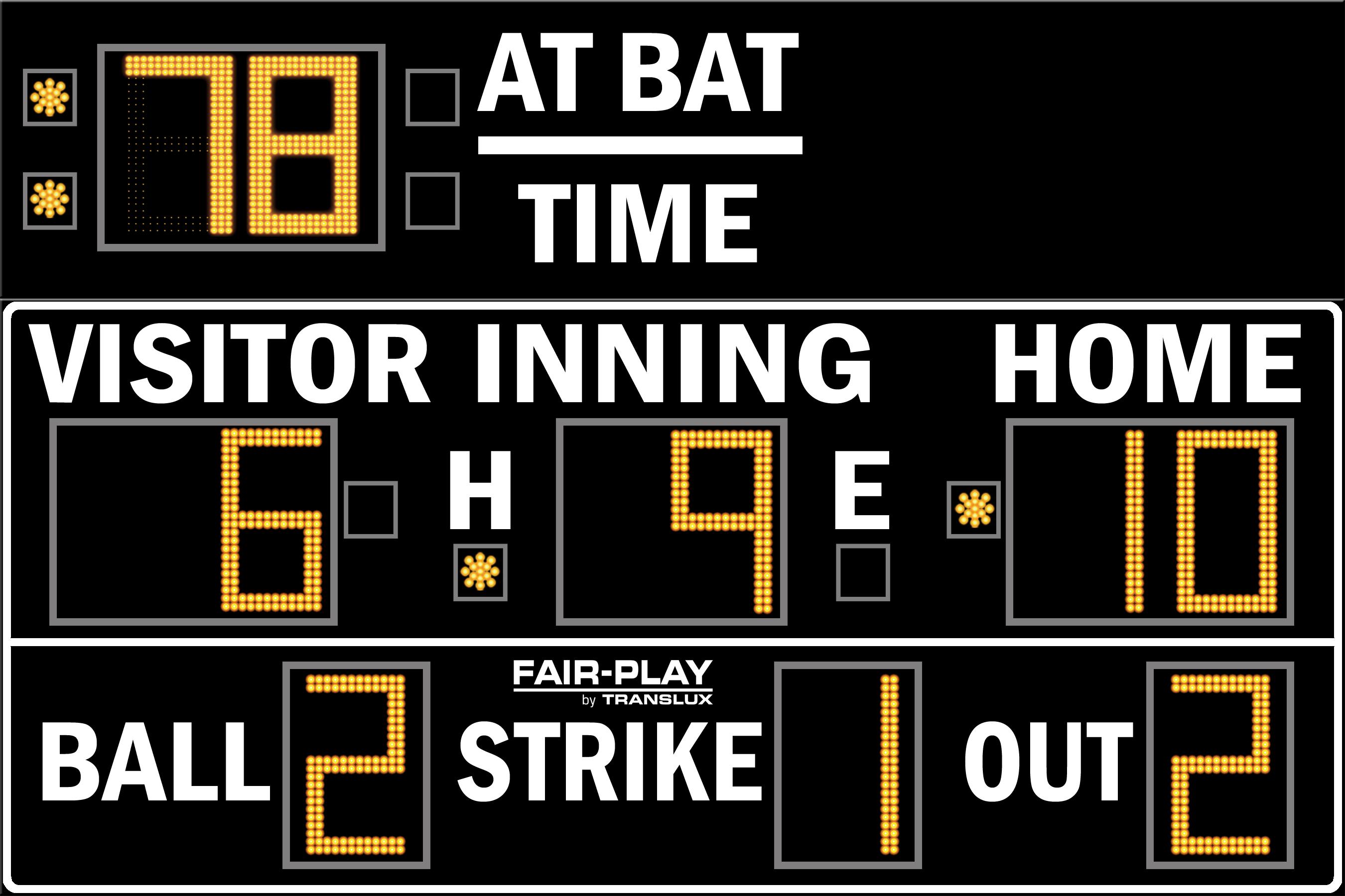 Fair-Play BA-7209MP-2 Baseball Scoreboard (6′ x 9′)