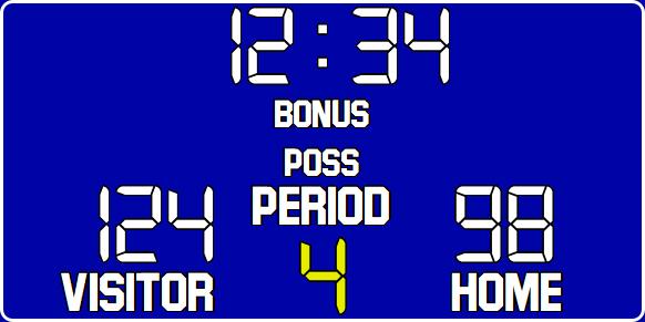 ScoreBoards.com BB-1500-LED Basketball Hybrid Scoreboard (3′ 6″ x 7′)
