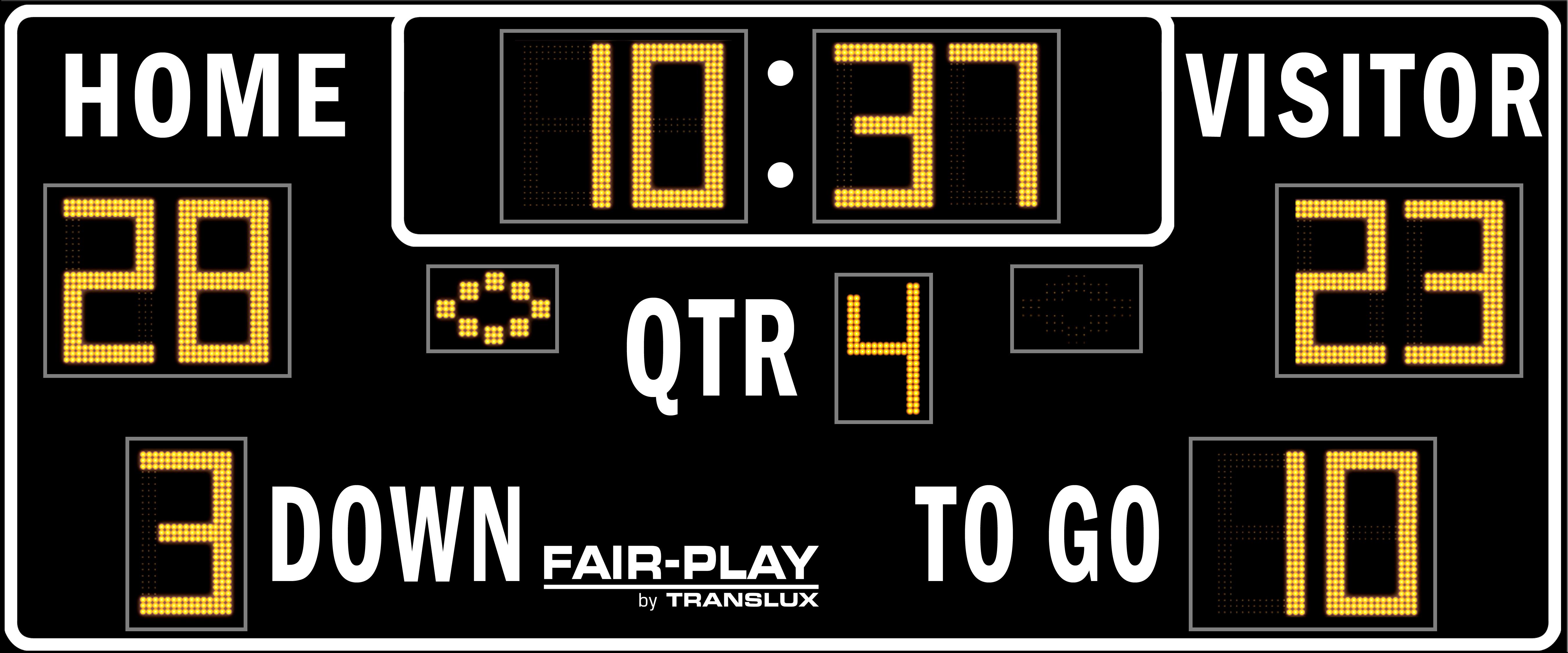 Fair Play Fb 8218 2 Football Scoreboard Olympian Led