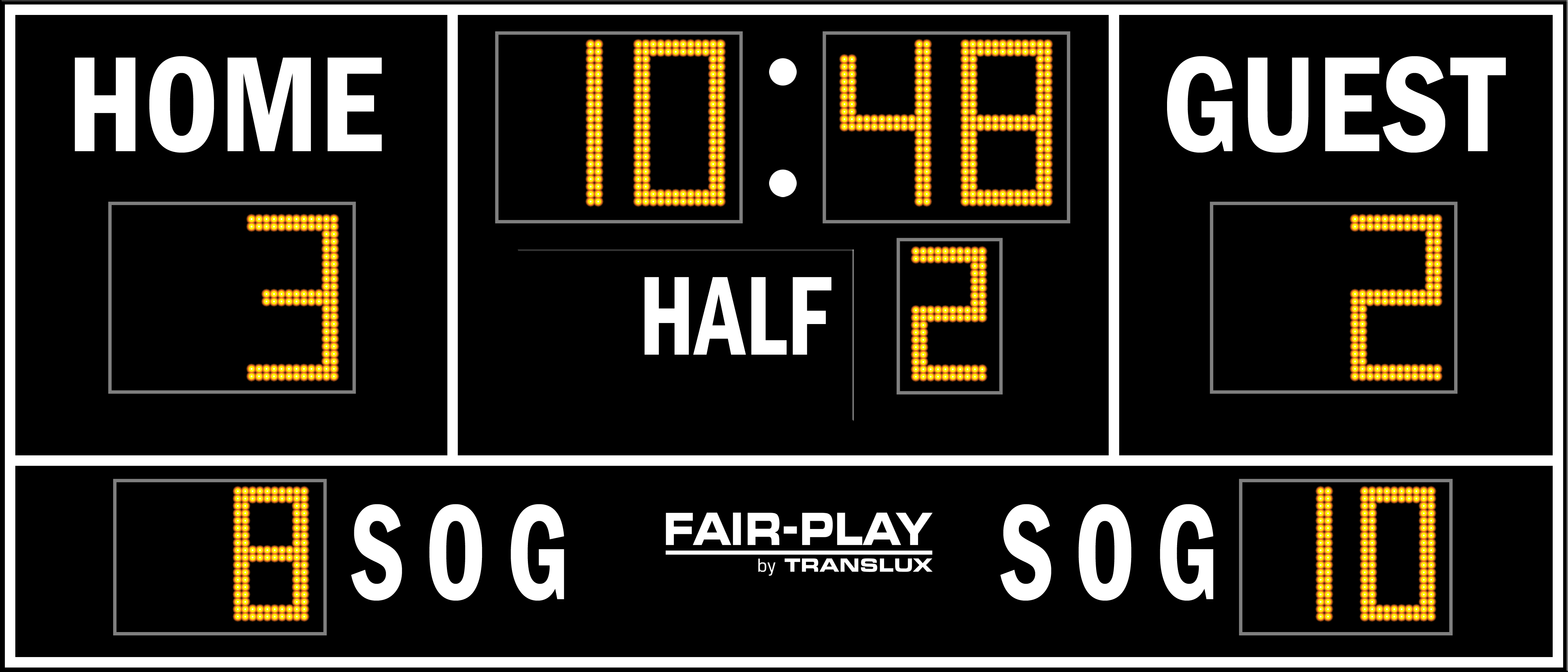 Fair-Play SC-8114-2 Soccer Scoreboard (6′ x 14′)
