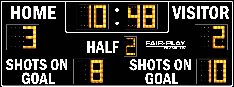 Fair-Play SC-8120-2 Soccer Scoreboard (7′ 6″ x 20′)