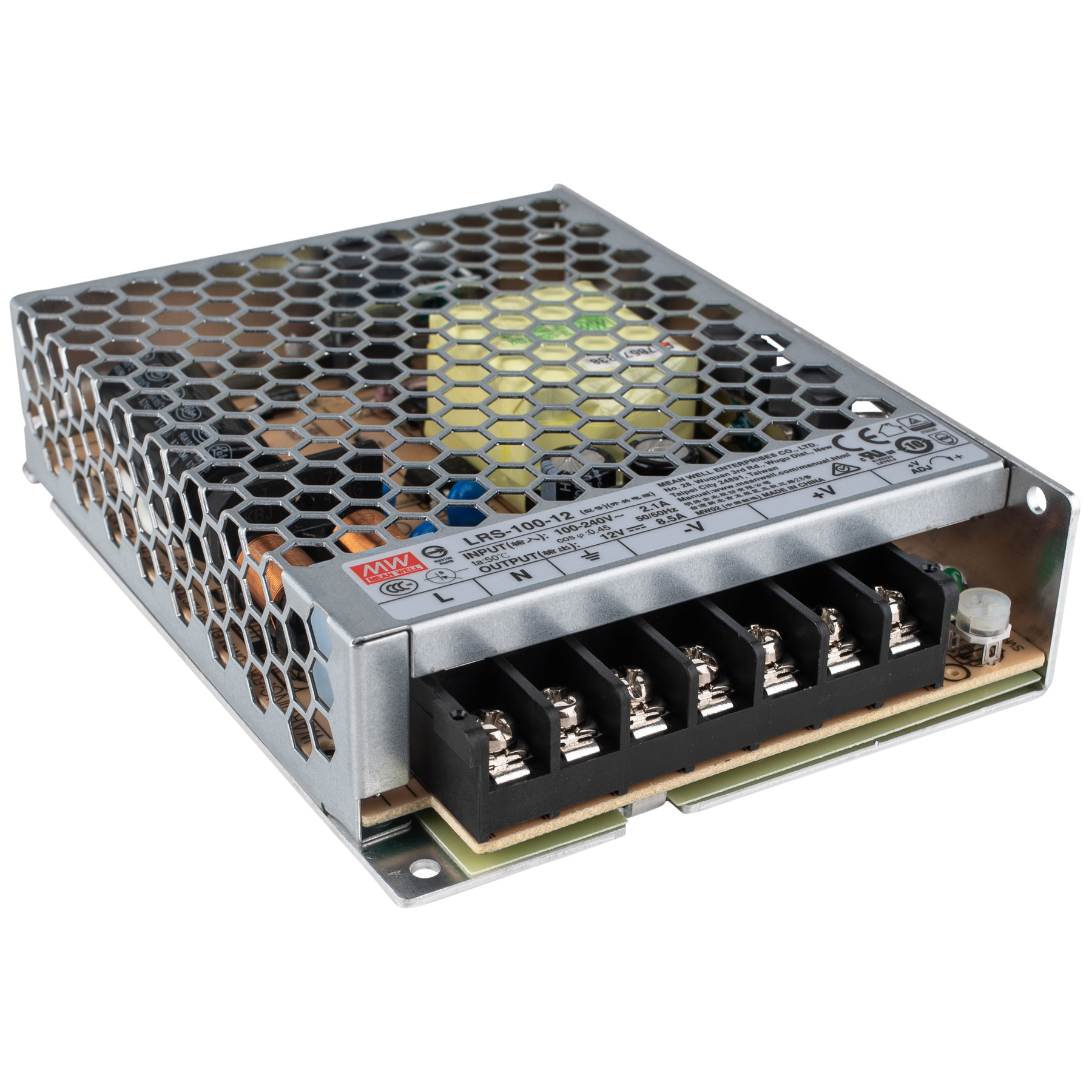 Mean Well LRS-100-12 Switching Power Supply, Single Output, 12V, 8.5A, 102W, 5.08