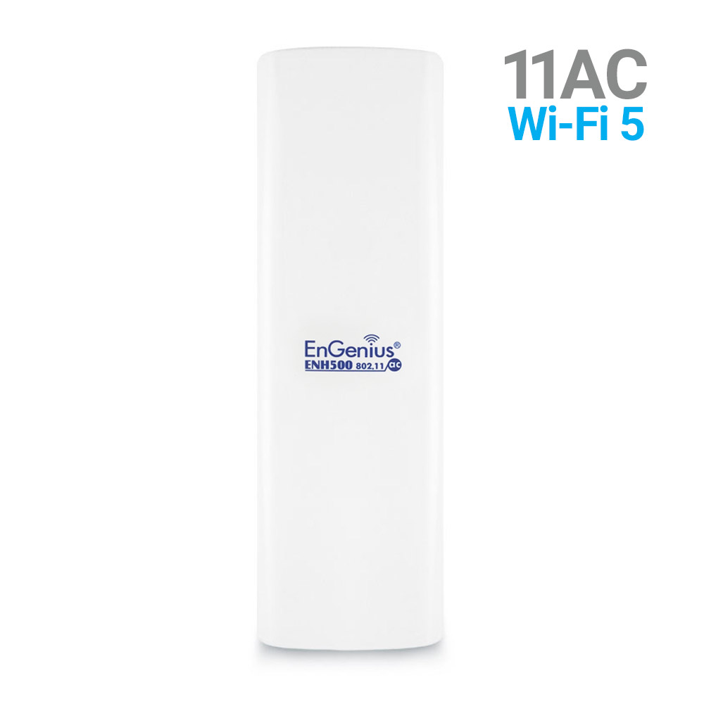 EnGenius EnJet Outdoor 5GHz AC Wave 2 CPE/Client Bridge, Long-Range, Point-to-Point, IP55, 27dBm, with 16 dBi High-Gain Antenna (ENH500v3)