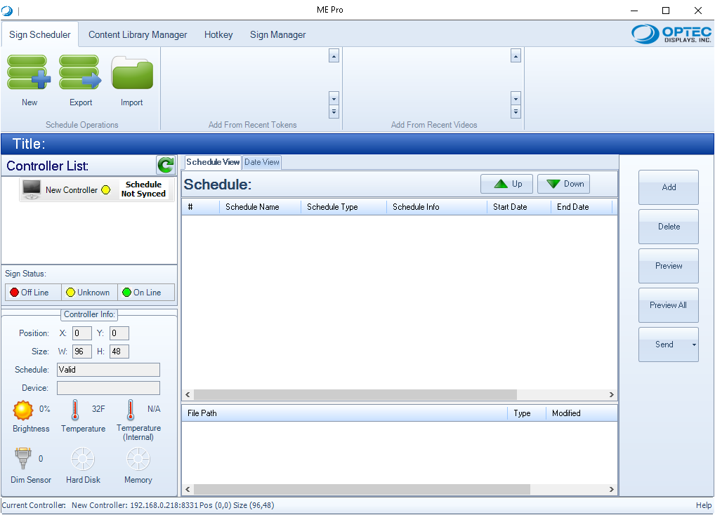 Optec LED Media Editor Pro (ME Pro) Software Download